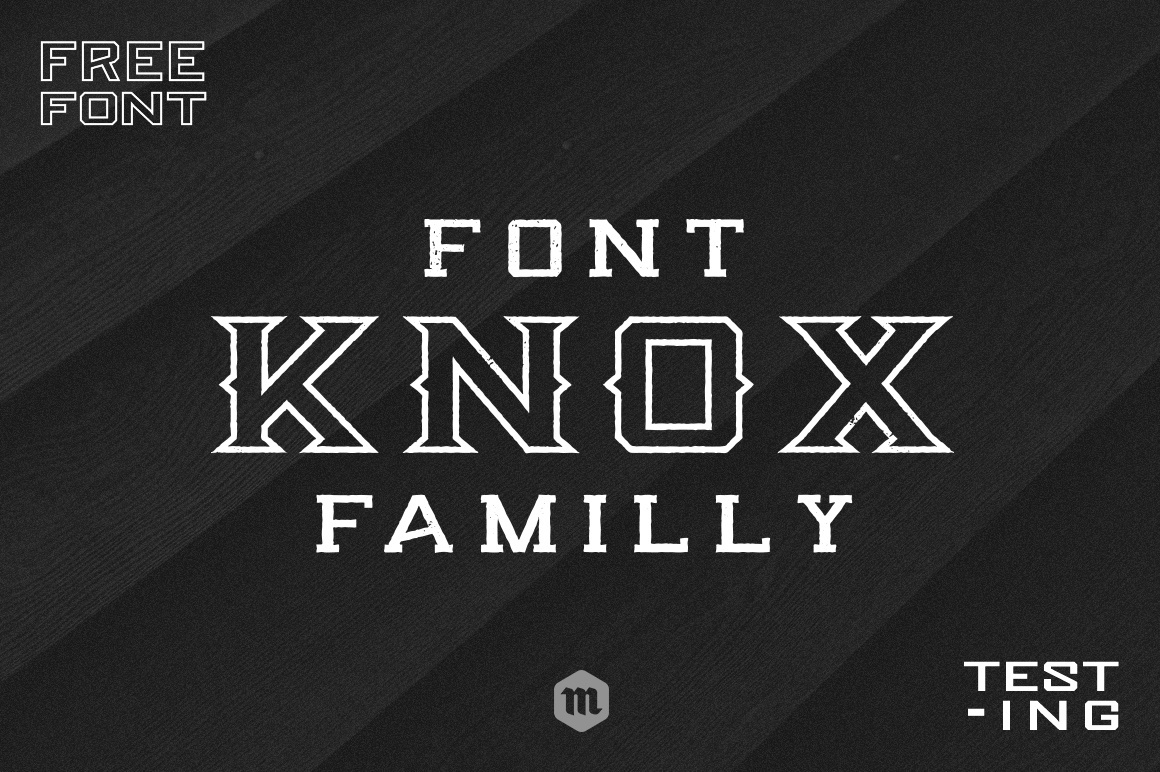 Free fonts Knox download字体下载