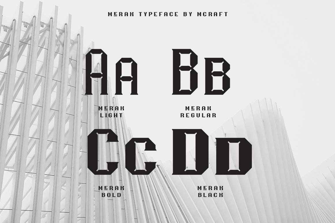 Free Fonts Merak