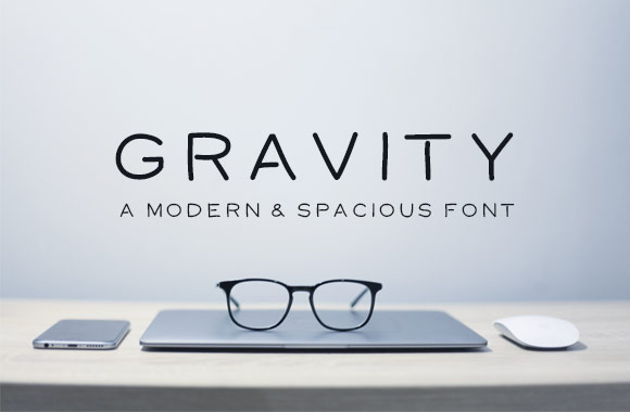 Gravity – Modern and Spacious Font字体下载