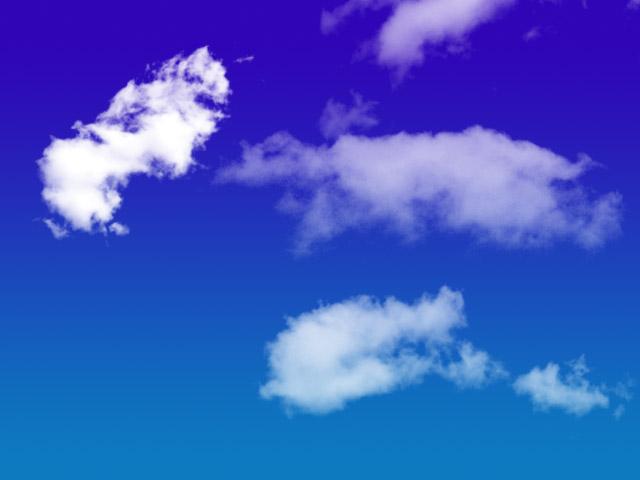 17款高清晰云彩和云朵PS笔刷
