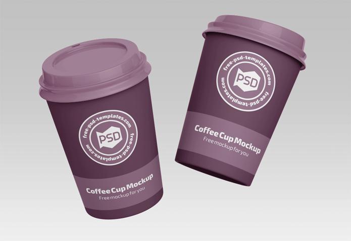 PSD咖啡杯样机免费模板
