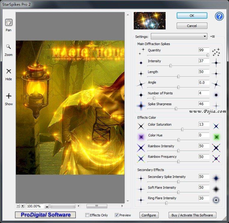 [星芒效果PS滤镜]StarFilter Pro v2.06 破解版