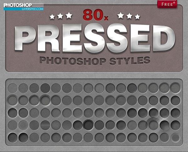 80种质感的凹陷效果样式