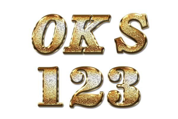 华丽的黄金磨砂字体样式,金属颗粒字体样式下载