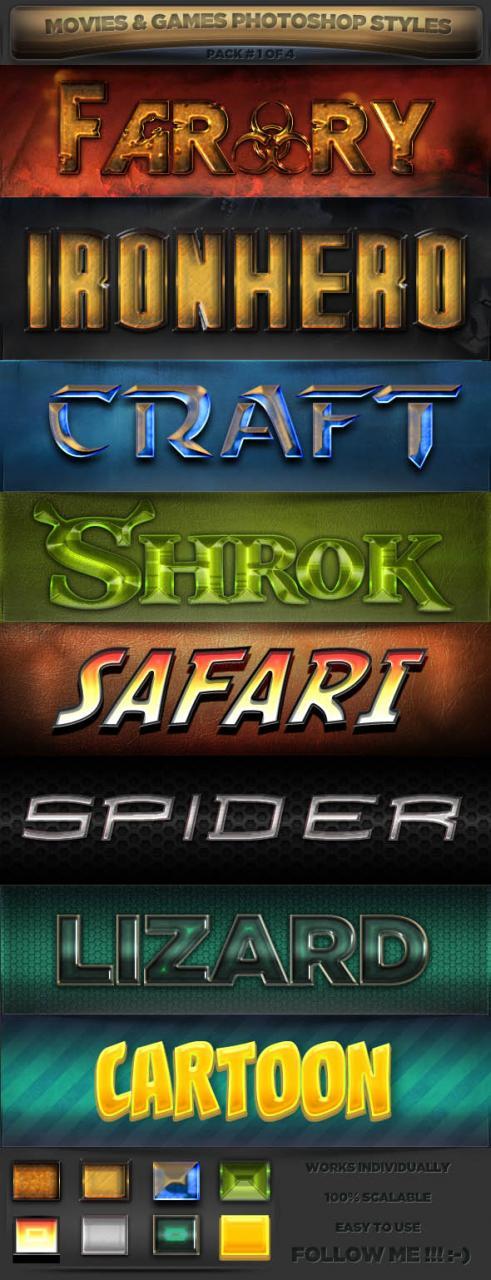 欧美风格游戏海报字体样式