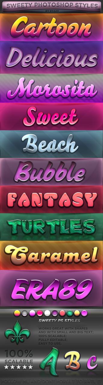 十种甜蜜风格字体设计样式