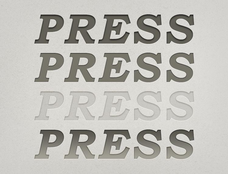凸版印刷立体字PS样式