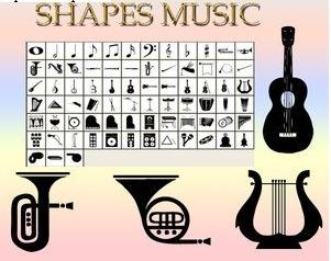音乐相关形状、乐器形状