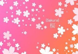 浪漫的樱花形状