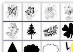 蝴蝶及自然类图案