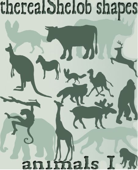 多种动物形状