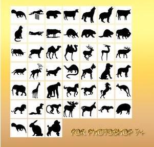 一组动物形状