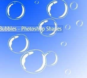 可爱的泡泡形状
