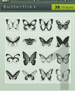 38个漂亮的蝴蝶形状