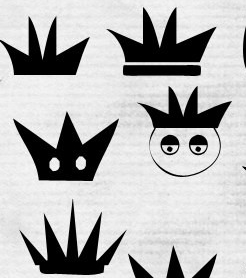 一组卡通皇冠形状