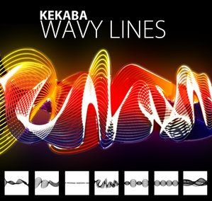 一组波浪线形状 、波浪线条形状