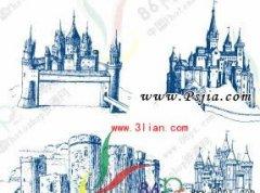 欧式城堡PS形状
