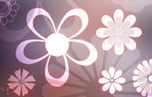 简洁的花朵PS形状下载