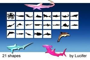 21种海洋鱼类形状