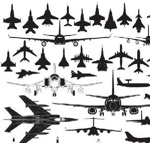 多款矢量飞机PS形状