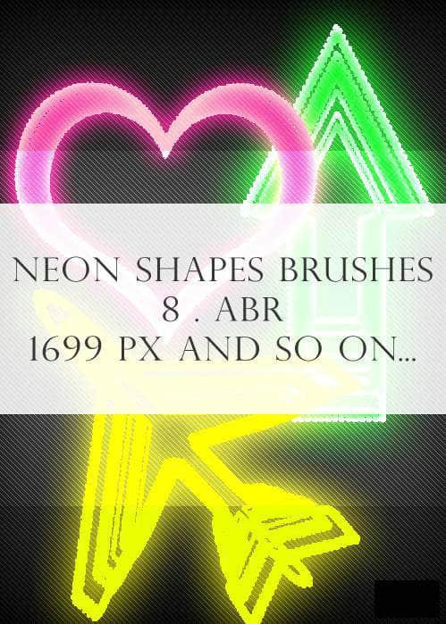 霓虹光线特效符号PS笔刷