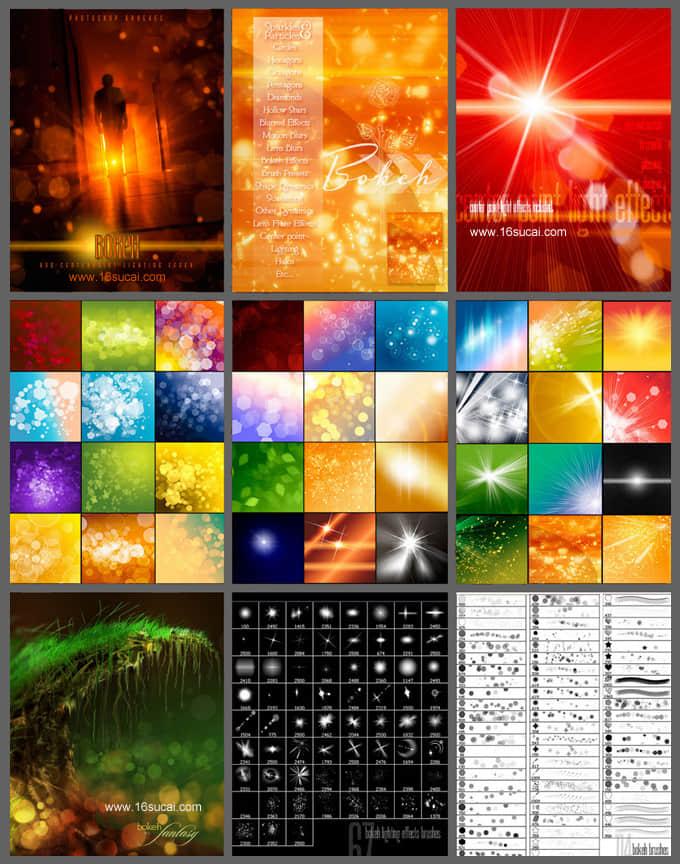 高级梦幻光影、光影、背景虚化效果、闪烁装饰Photoshop笔刷