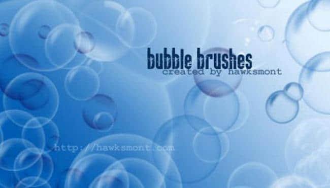 半透明气泡、泡泡、水泡Photoshop笔刷下载
