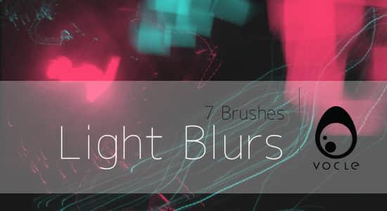 混乱光影重叠、光线效果Photoshop笔刷