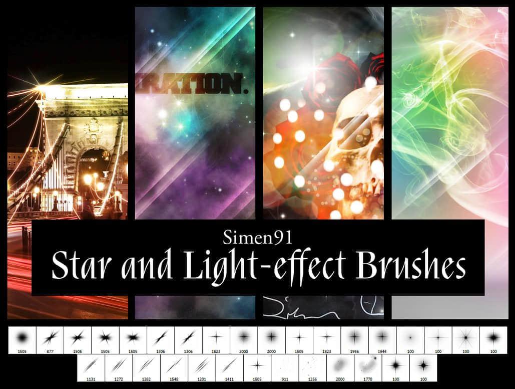 星光、光效、光斑、灯光、十字星PS笔刷素材