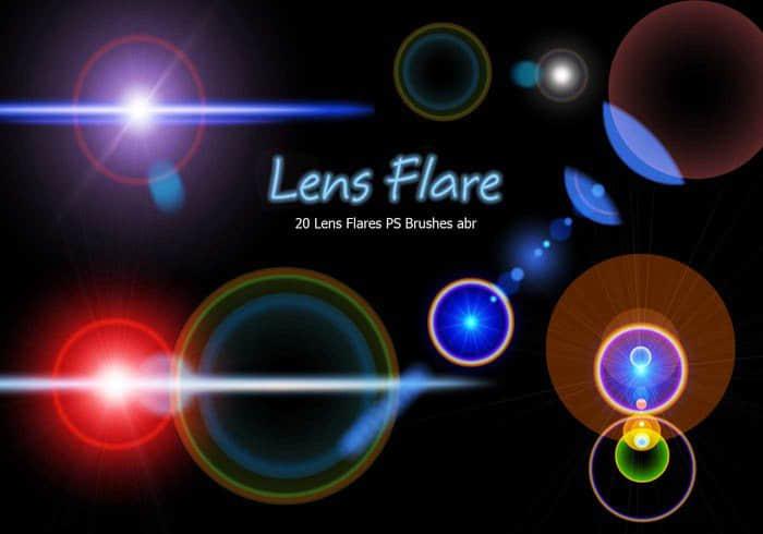 20种镜头耀斑、光晕特效Photoshop光影笔刷