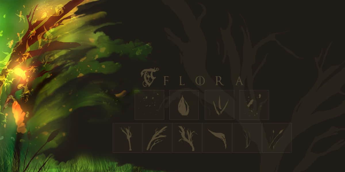 树叶、树木元素Photoshop笔刷素材