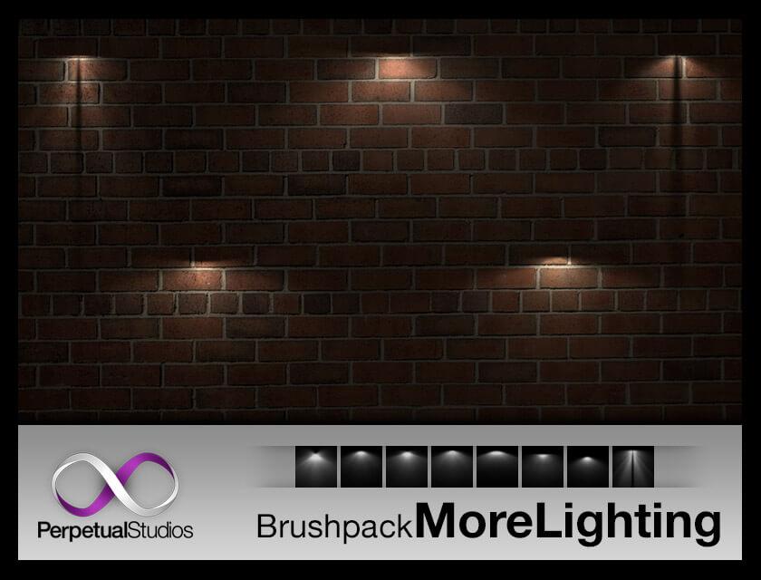 20+ 灯光照射光影效果Photoshop光线处理笔刷素材