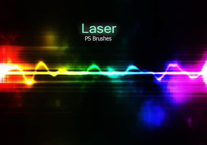 20种激光、镭射光效果PS光影笔刷