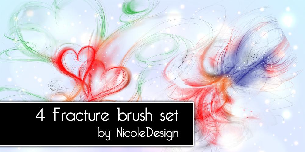 4种光影线条式爱心图案图像Photoshop光影特效笔刷