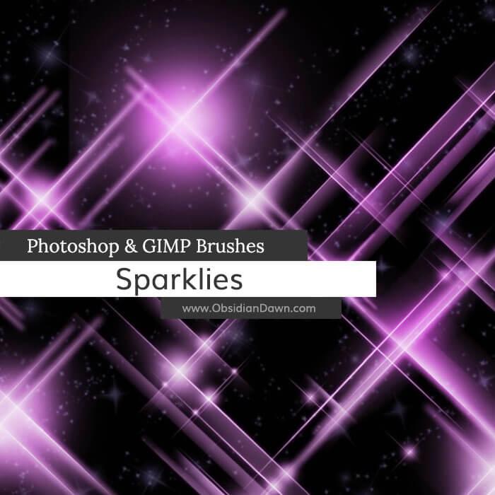 亮晶晶、光耀、闪烁效果PS笔刷素材
