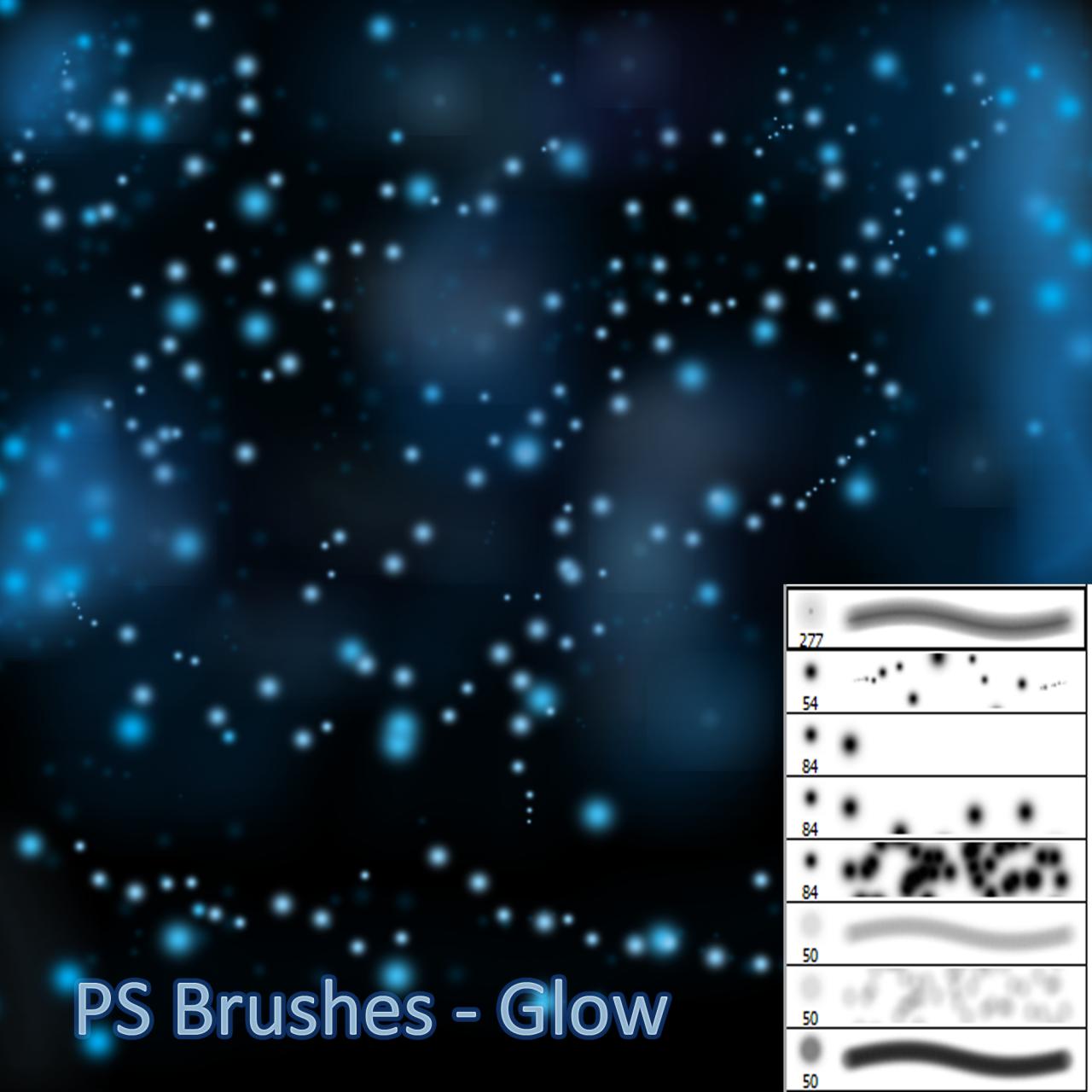 发亮光斑、光点纹理效果PS笔刷素材