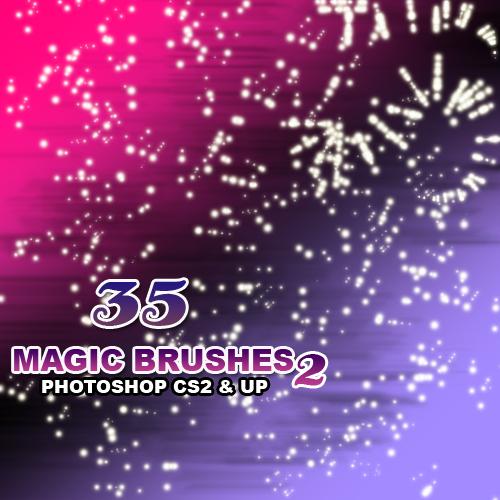 35种光影点点、星光背景装饰PS笔刷下载(PNG图片格式)