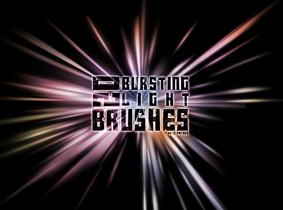 20种闪光光线效果、光芒特效PS笔刷下载