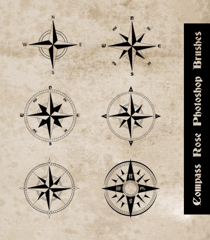 指南针图案PS笔刷