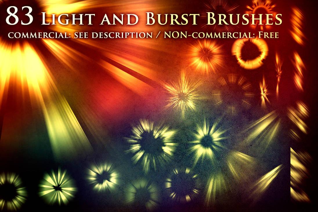 光影投射发光、爆炸、爆裂效果PS笔刷(带自定义样式风格.asl文件)